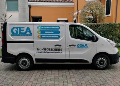 Personalizzazione mezzi aziendali: Gea Service